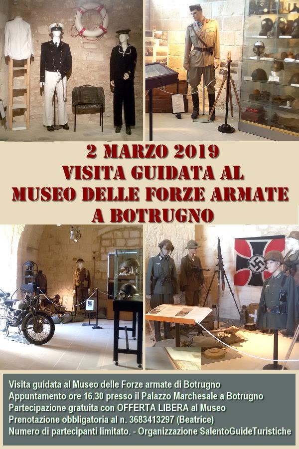 Visita al museo civico delle forze armate a Botrugno